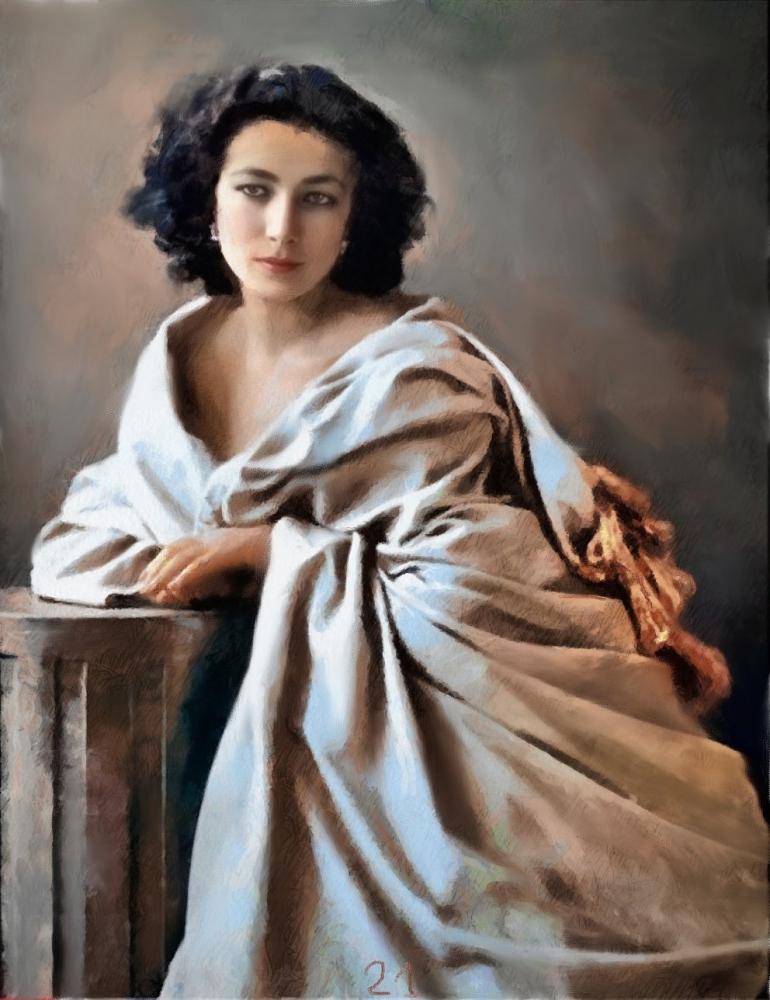 Sarah Bernhardt by baudet